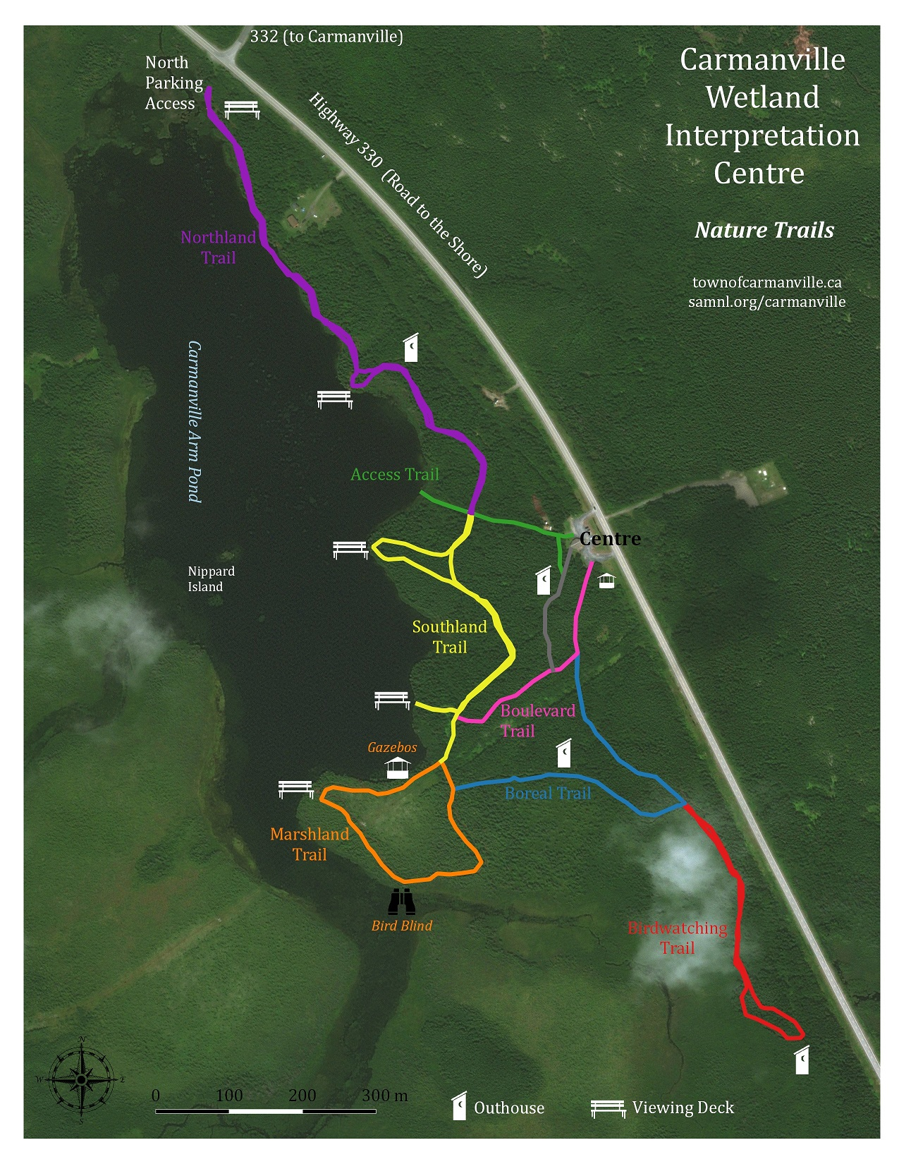 Carmanville Trails map2